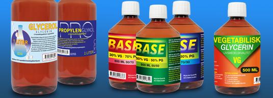 Base Liquid, PG / VG